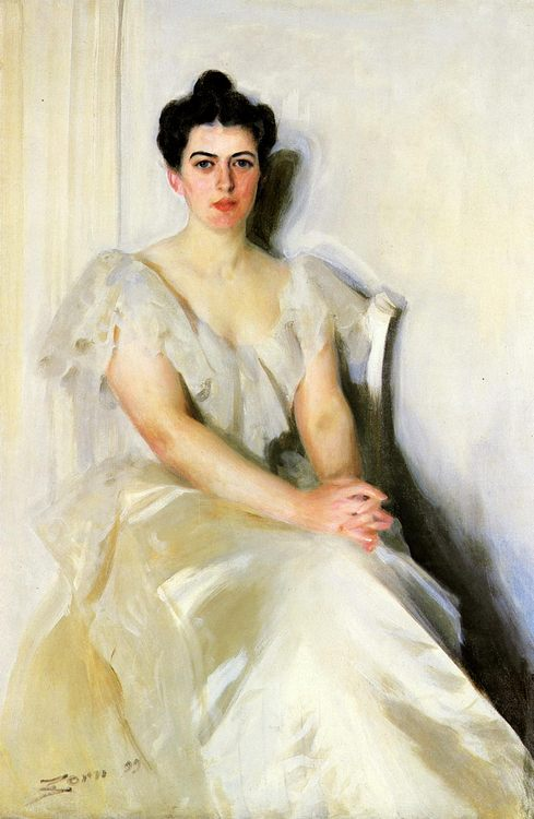 The Woman in White :: Anders Zorn - 7 female portraits ( the end of 19 centuries ) in art and painting фото