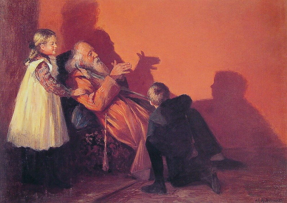 Hand Shadows :: Adam Emory Albright - Children's portrait in art and painting ôîòî