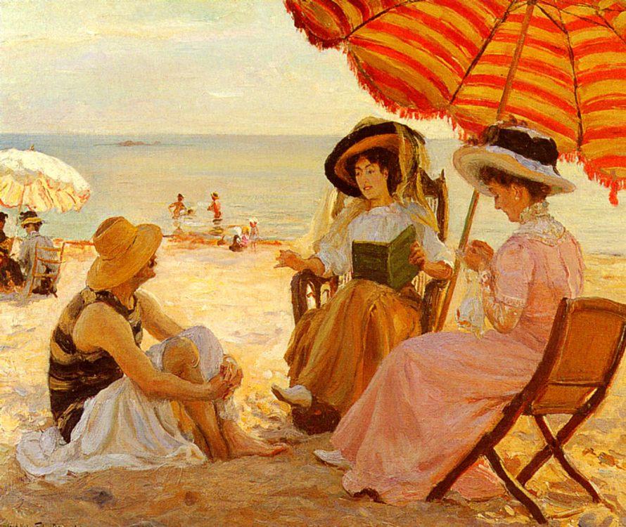 Beach :: Alfred-Victor Fournier - Picnic фото