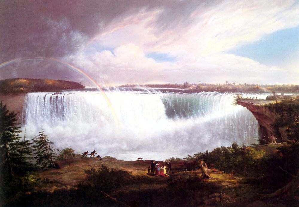 The Great Horseshoe Falls, Niagara :: Alvan Fisher - River landscapes ôîòî