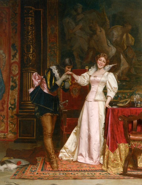 Enchantee :: Charles Joseph Frederick Soulacroix - Romantic scenes in art and painting фото