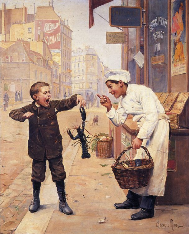 I Told You So :: Paul Charles Chocarne-Moreau - Children's portrait in art and painting ôîòî