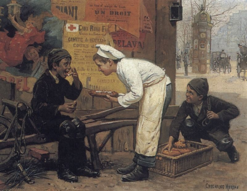 The Cunning Thief :: Paul Charles Chocarne-Moreau - Children's portrait in art and painting ôîòî