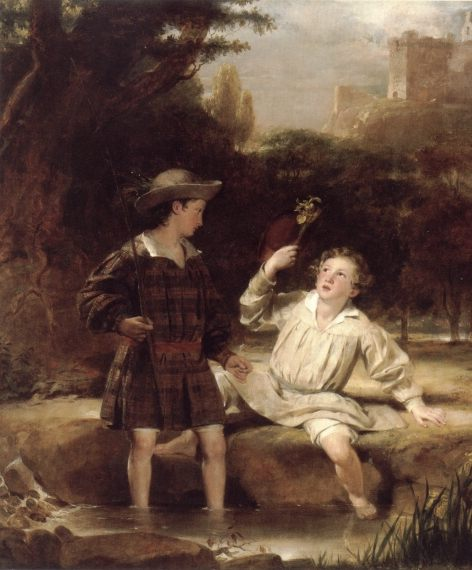 Auld Lang Syne :: Sir John Watson Gordon - Children's portrait in art and painting фото