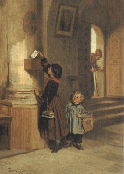 Lettre Au Bon Dieu :: Theophile-Emmanuel Duverger - Children's portrait in art and painting фото