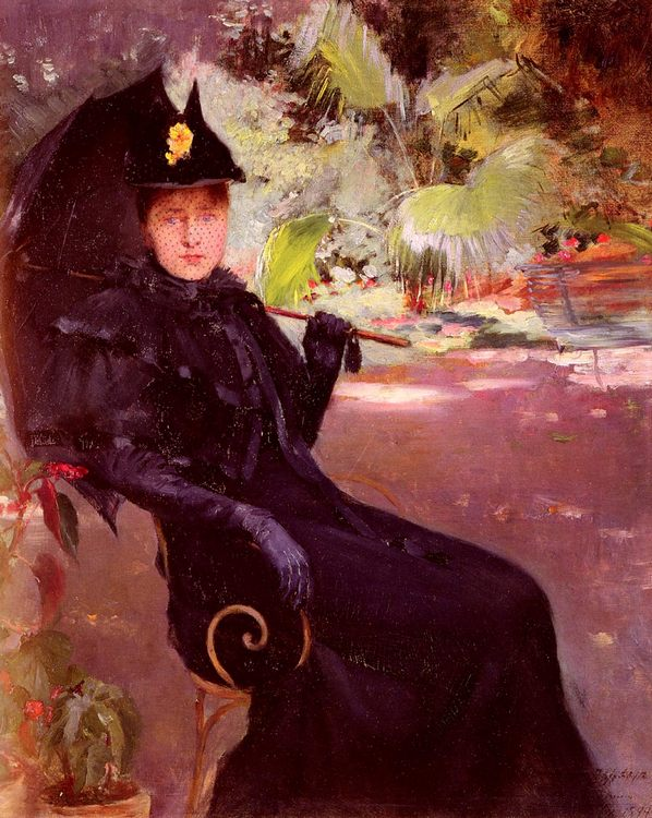 In the Garden :: Claude Firmin - 7 female portraits ( the end of 19 centuries ) in art and painting фото