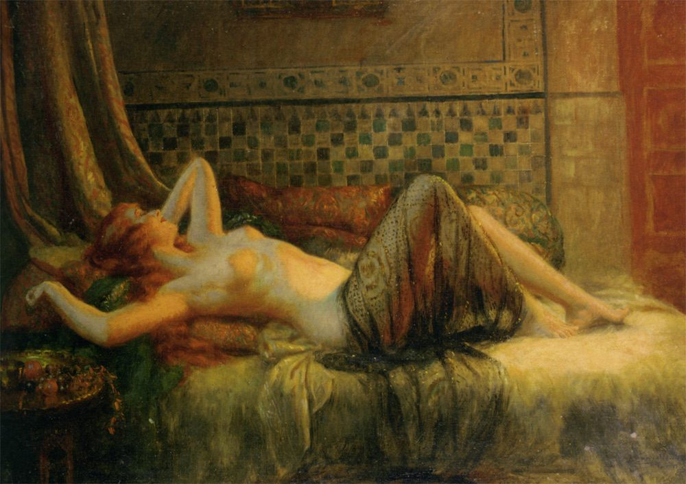 Reclining Nude :: Delphin Enjolras - Nu in art and painting фото