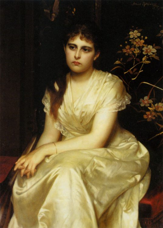 Immersed in dreams :: Albert Ritzberger - 7 female portraits ( the end of 19 centuries ) in art and painting ôîòî