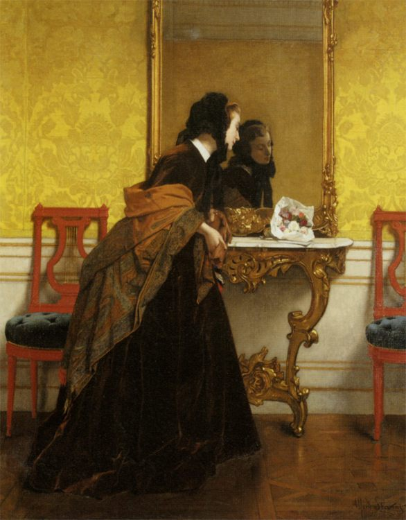 The Bouquet :: Alfred Stevens - Interiors in art and painting фото
