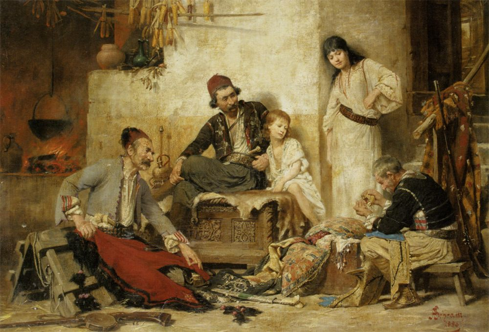 Counting The Bounty :: Alois Hans Schramm - Village life ôîòî