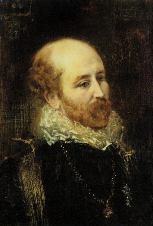 Bildnisse Henry Francis Makins Und Mrs Maskenkostum :: Anton Romako - men's portraits 19th century (first half) ôîòî