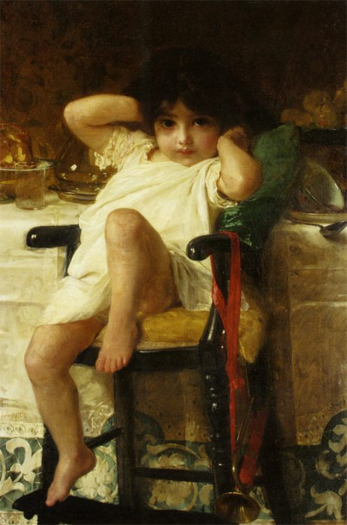 En Penitence :: Emile Munier - Babies portraits  фото