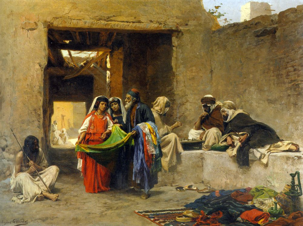 At The Souk :: Eugene-Alexis Girardet - scenes of Oriental life ( Orientalism) in art and painting фото