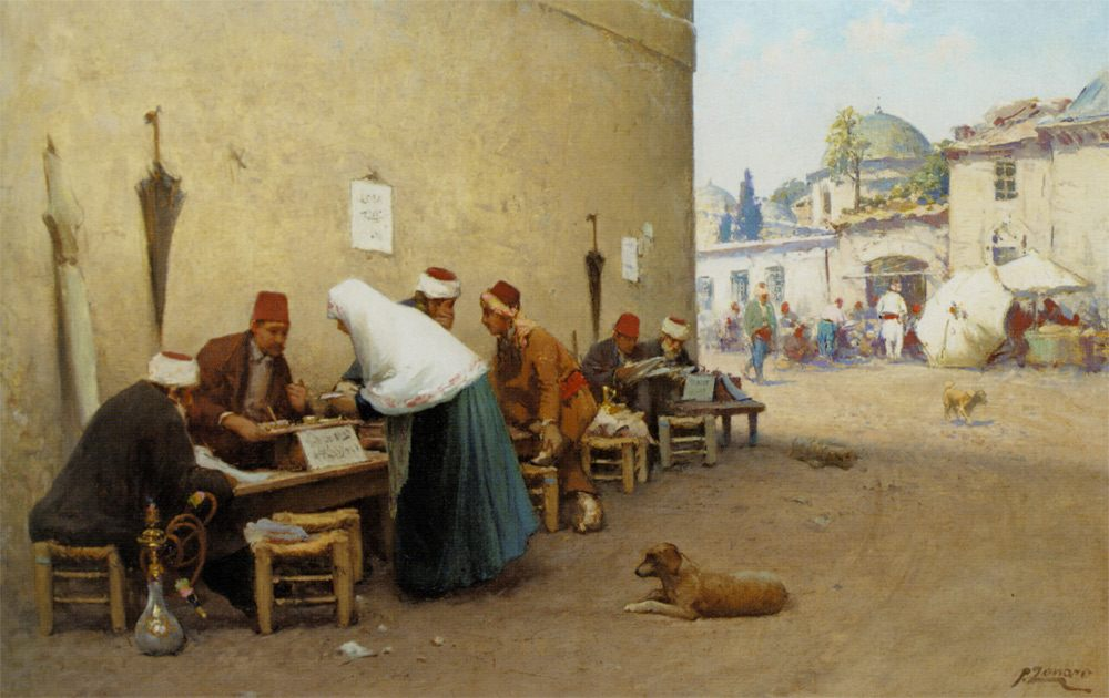 The Scribe :: Fausto Zonaro - scenes of Oriental life ( Orientalism) in art and painting фото