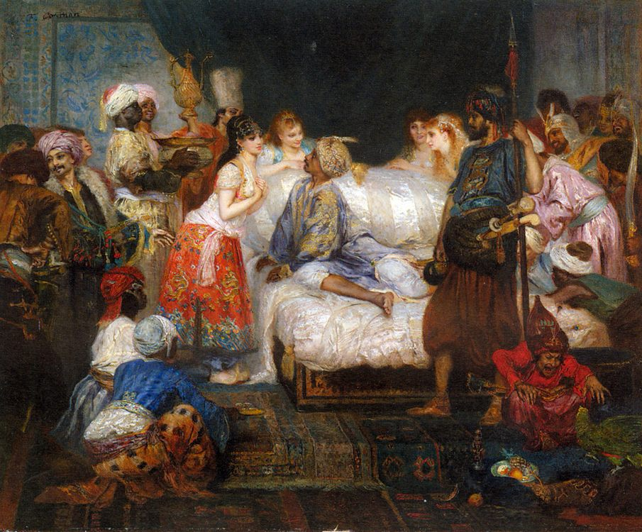 The Harem :: Fernand-Anne Piestre Cormon - Arab women ( Harem Life scenes ) in art  and painting фото