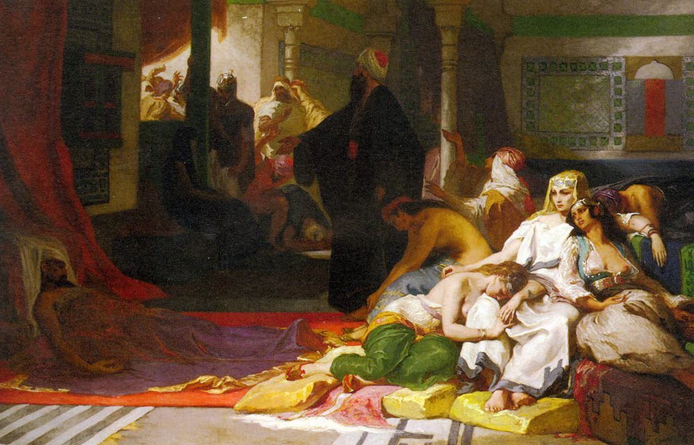 Harem in Mourning :: Fernand-Anne Piestre Cormon - Arab women ( Harem Life scenes ) in art  and painting фото