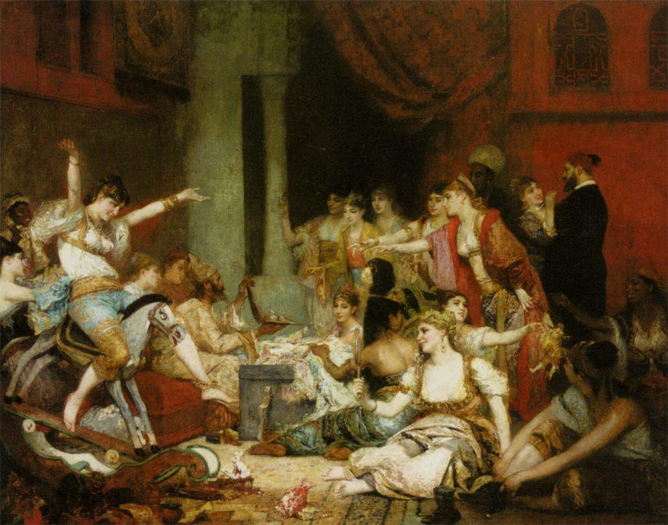 The Harem :: Fernand-Anne Piestre Cormon - Genre фото