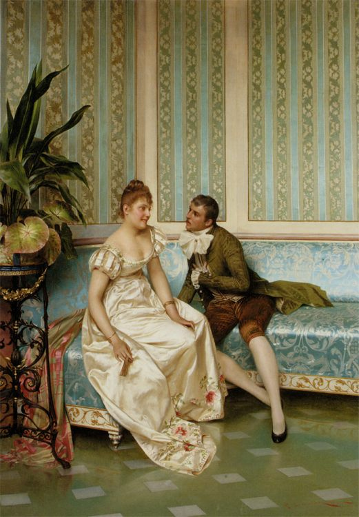 Proposition :: Frederic Soulacroix  - Romantic scenes in art and painting фото
