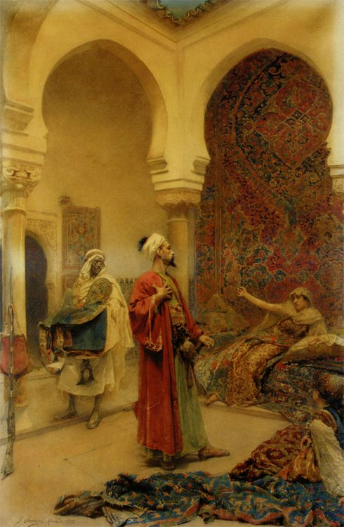 The Arrival of the Master :: Gustavo Simoni - scenes of Oriental life (Orientalism) in art and painting ôîòî