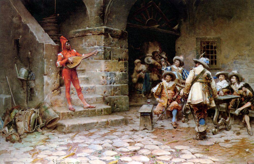 The Minstrels Story :: Gustavo Simoni - History painting фото