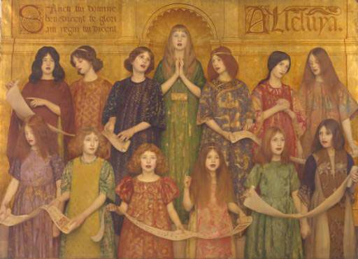 Alleluia :: Thomas Cooper Gotch - Children's portrait in art and painting фото