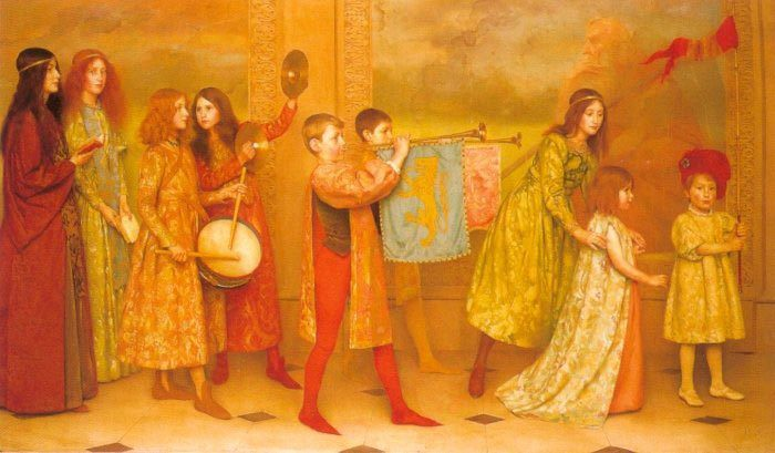 The Pageant of Childhood :: Thomas Cooper Gotch - Children's portrait in art and painting фото