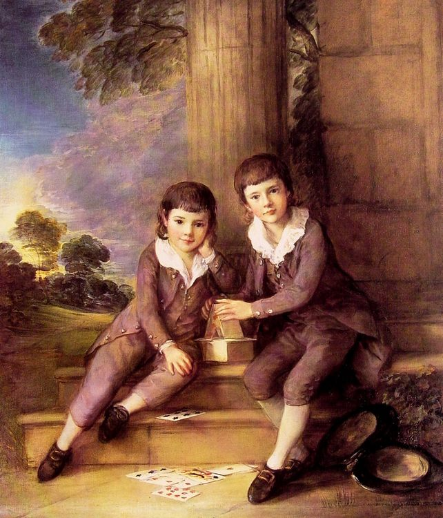 John and Henry Trueman Villebois :: Thomas Gainsborough - Children's portrait in art and painting фото
