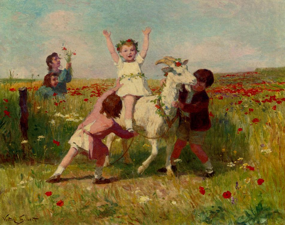 New Tricks :: Victor Gabriel Gilbert - Children's portrait in art and painting фото