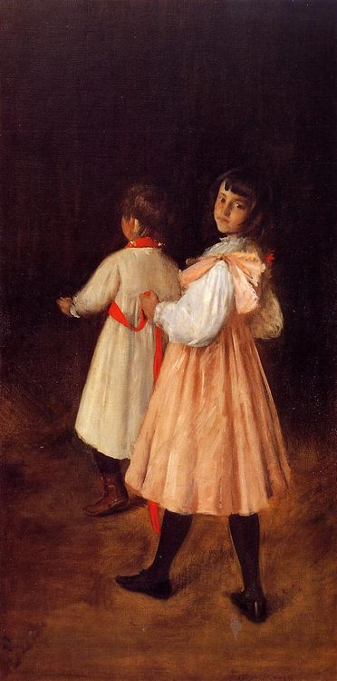 At Play :: William Merritt Chase - Children's portrait in art and painting фото