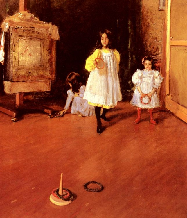 Ring Toss :: William Merritt Chase - Children's portrait in art and painting фото