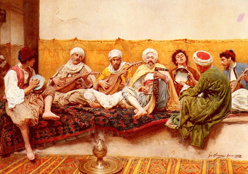 The Musicians :: Gustavo Simoni  - scenes of Oriental life ( Orientalism) in art and painting фото