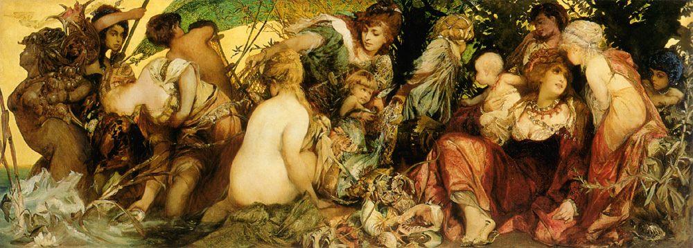 Abundantia - The Gifts of the Sea :: Hans Makart  - Allegory in art and painting ôîòî