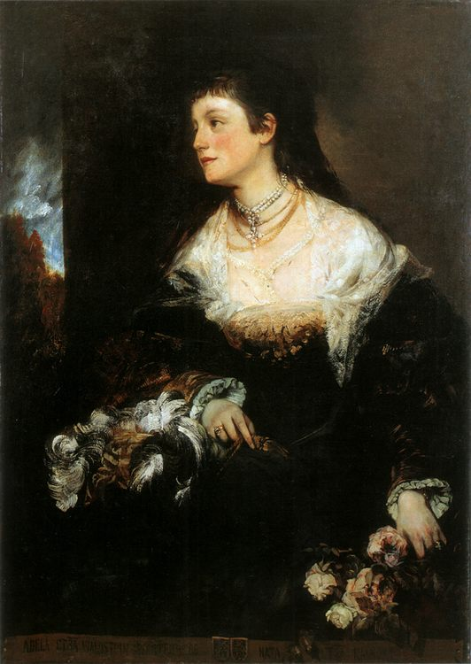 Adele - countess Waldstein-Wartenberg :: Hans Makart - 6 woman's portraits hall ( The middle of 19 centuries ) in art and painting фото