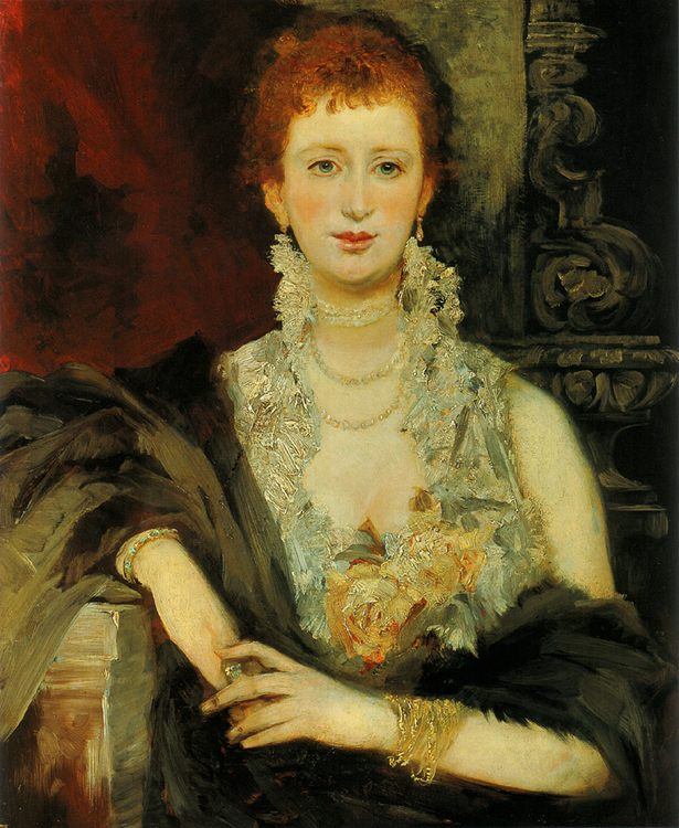 Portrait of Clothilde Beer :: Hans Makart - 6 woman's portraits hall ( The middle of 19 centuries ) in art and painting фото
