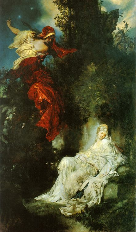 The sleeping Snow White :: Hans Makart - mythology and poetry ôîòî
