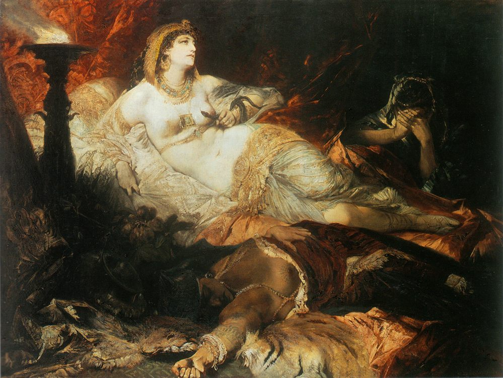 The death of Cleopatra :: Hans Makart - Antique world scenes фото