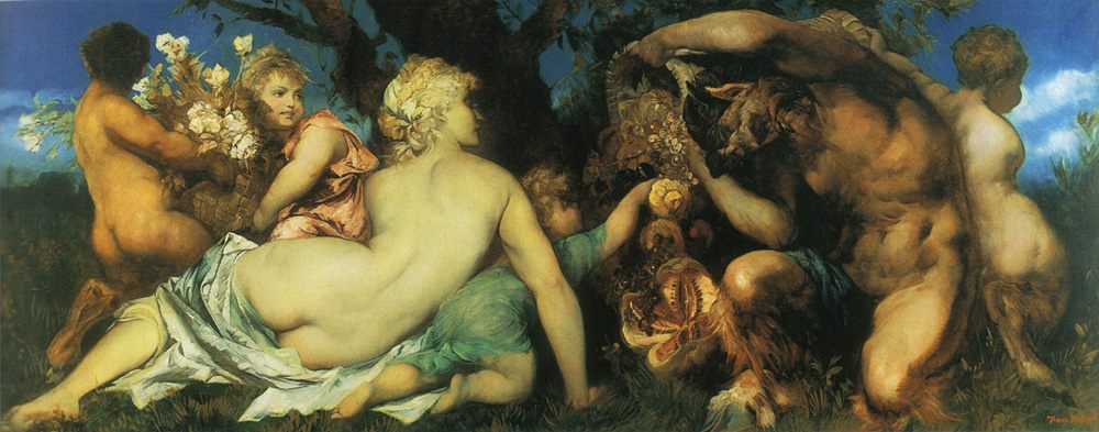 The harvest :: Hans Makart - Allegory in art and painting фото