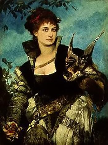 Falconer :: Hans Makart - 7 female portraits ( the end of 19 centuries ) in art and painting ôîòî