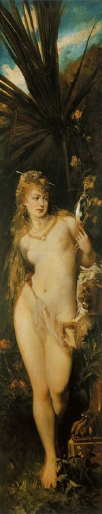 Facial ( The Five Senses  )- Gesicht :: Hans Makart - Allegory in art and painting фото