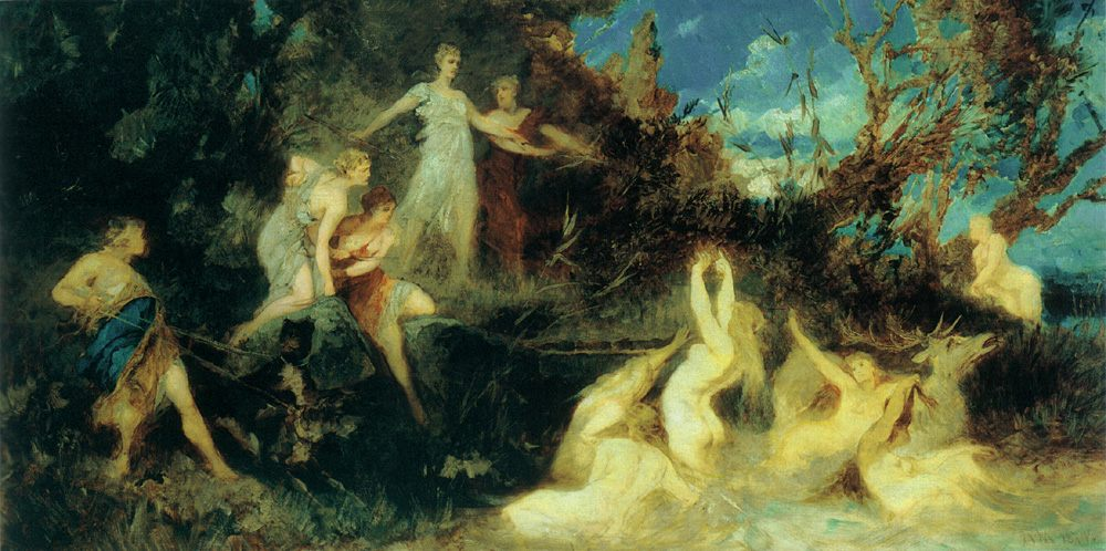 The Hunt of Diana (Draft)  :: Hans Makart - mythology and poetry фото