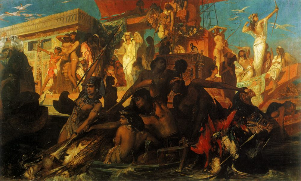 Journey on the Nile Cleopatra :: Hans Makart - Antique world scenes фото