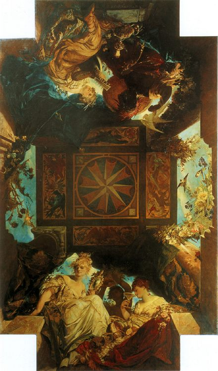 The four parts of the world :: Hans Makart - Allegory in art and painting фото