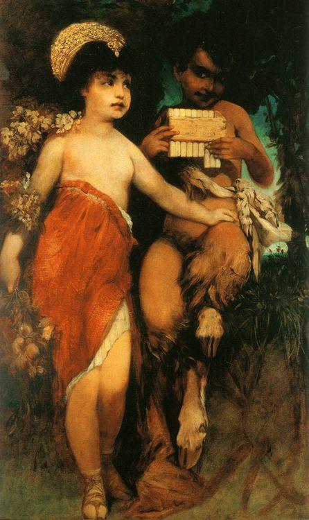 Faun und Nymph (Pan und Flora) :: Hans Makart - mythology and poetry ôîòî