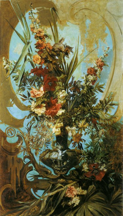 The big picture with the flowers :: Hans Makart  - flowers in painting фото