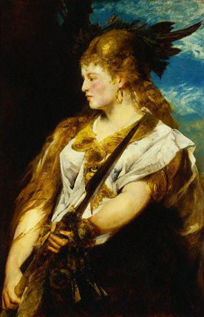 Helene Racowitza as Walku're :: Hans Makart - 6 woman's portraits hall ( The middle of 19 centuries ) in art and painting фото