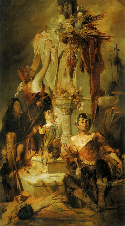 Sacrificial scene :: Hans Makart - Allegory in art and painting фото