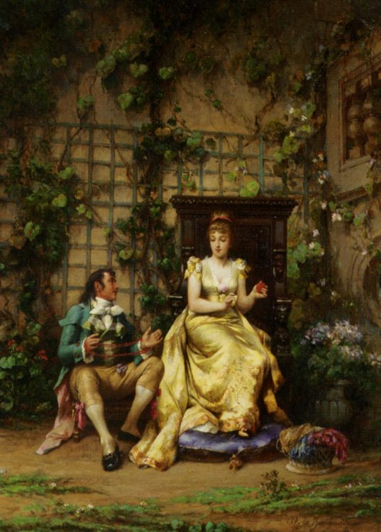 A Helping Hand :: Adrien de Boucherville - Romantic scenes in art and painting фото