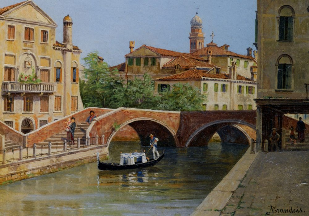A Venetian Bridge :: Antonietta Brandeis - Venice фото