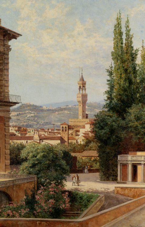 View of the Palazzo Vecchio in Florence :: Antonietta Brandeis - Italy фото