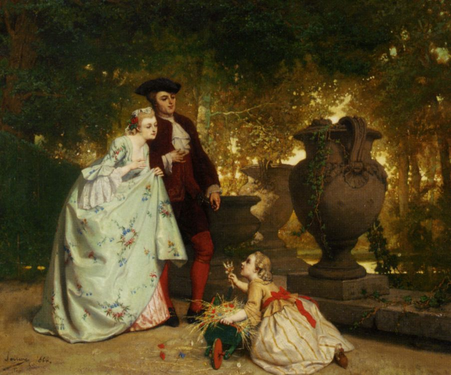 Seller The Little Flower :: Auguste Serrure - Romantic scenes in art and painting фото